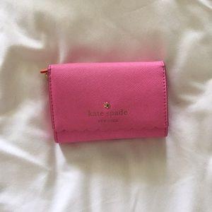 Pink Kate Spade Scalloped Wallet